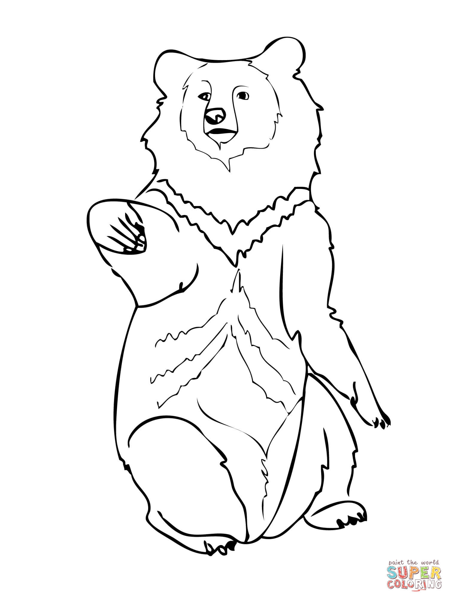 1500x2000 Asia Black Bear Coloring Page Free Printable Coloring Pages