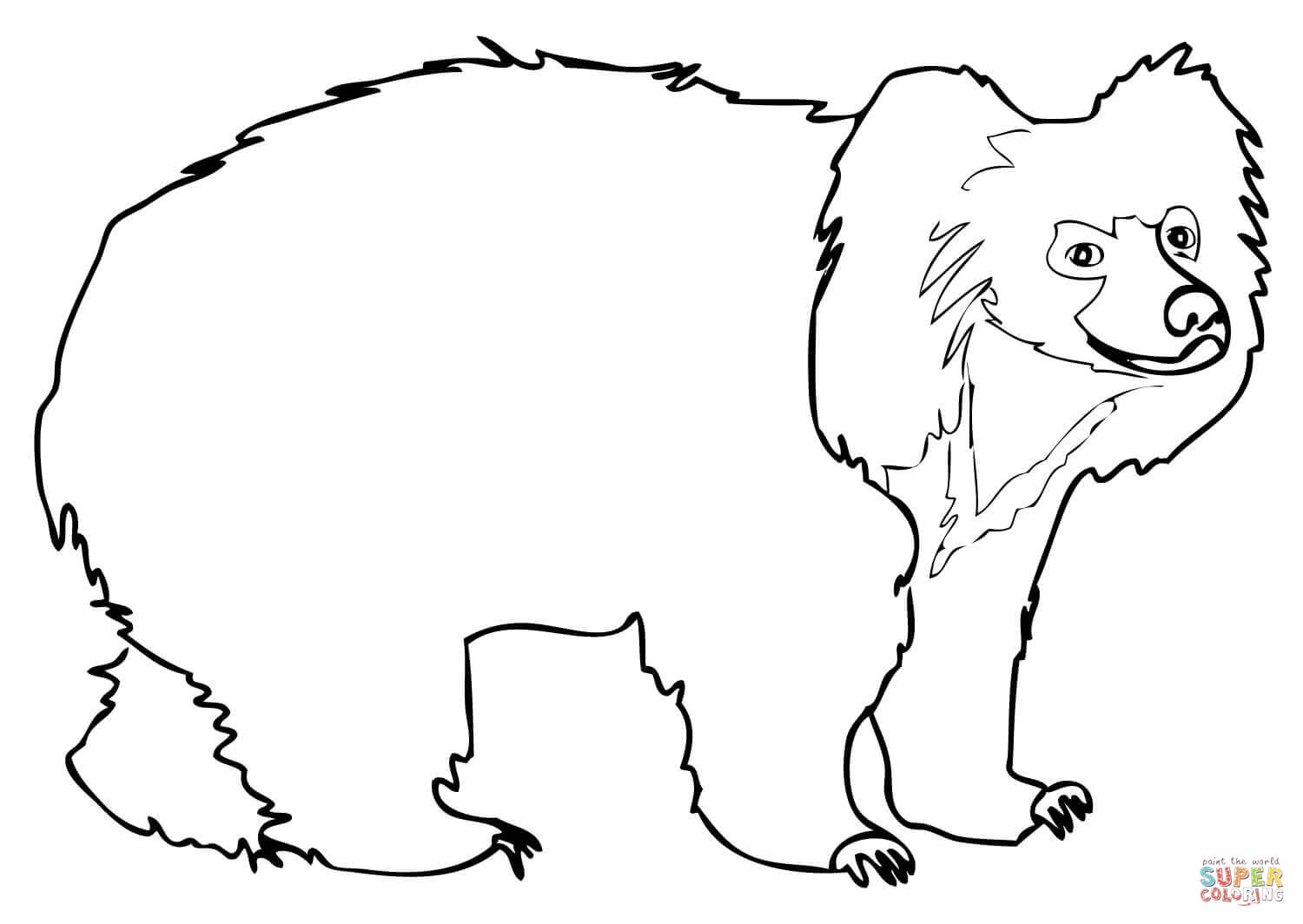 Black Bear Drawing Outline At Getdrawings Com Free For Personal Wallpaper Coloring Pages