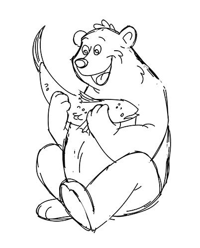 402x499 Bear Cartoon Drawing