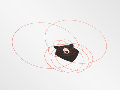 400x300 Black Bear Head Logo By Ery Prihananto