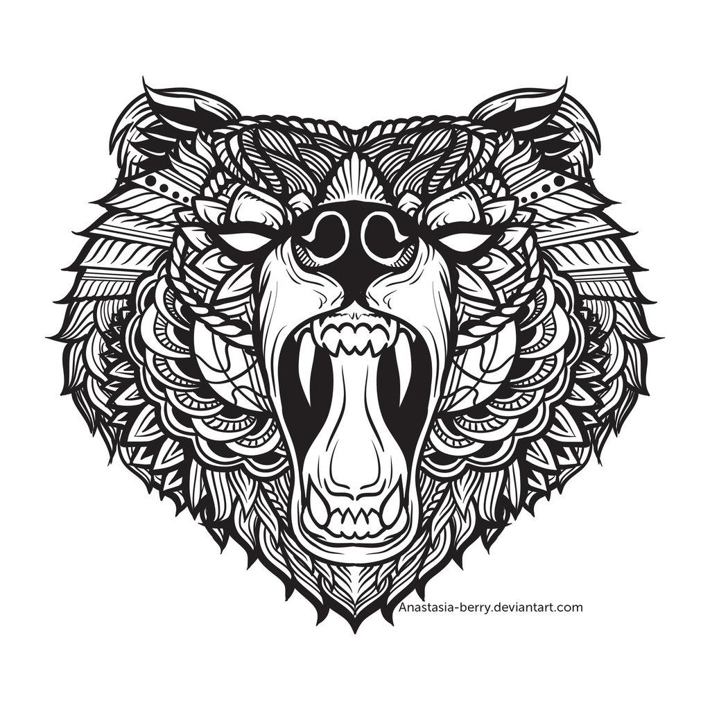 1024x1024 Black Bear I By Anastasia Berry