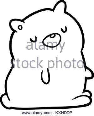 300x369 Line Drawing Of Teddy Bear Stock Vector Art Amp Illustration, Vector