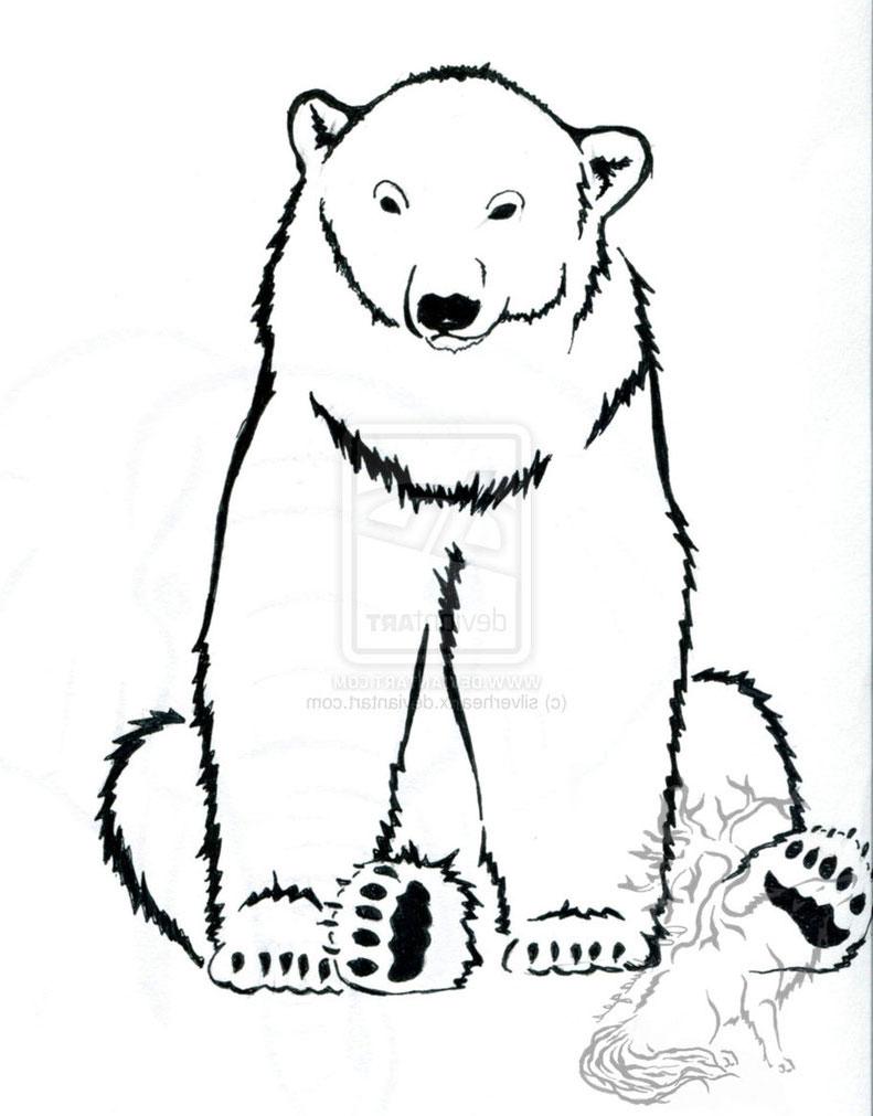 791x1011 Polar Bear Line Drawing Tattoo Design