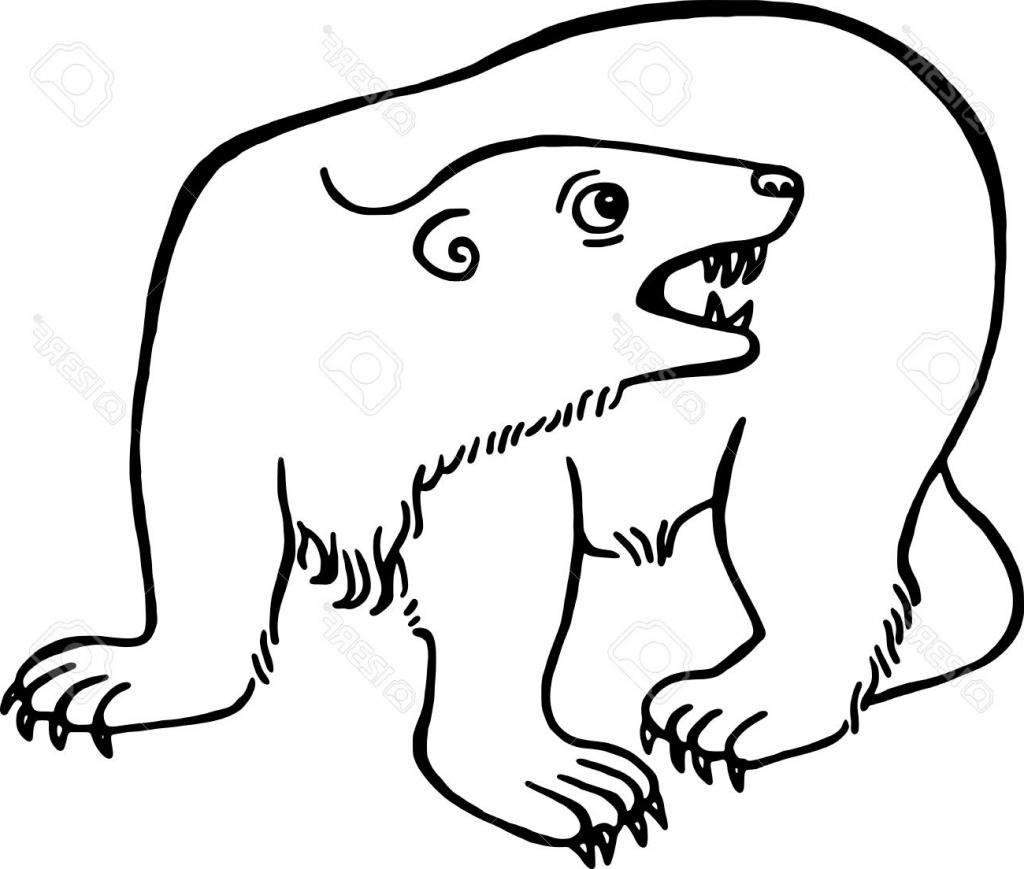 1024x869 Simple Bear Drawing