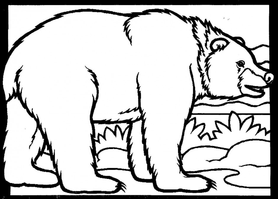 Black Bear Line Drawing At Getdrawings Com Free For Personal Use Mountains Coloring Pages
