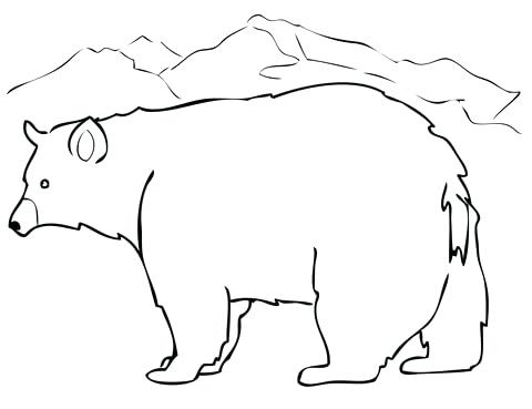 480x369 Black Bear Coloring Pages Click To See Printable Version Of Black