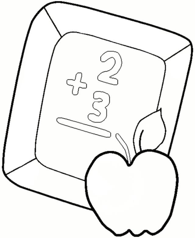 640x781 Blackboard Coloring Pages