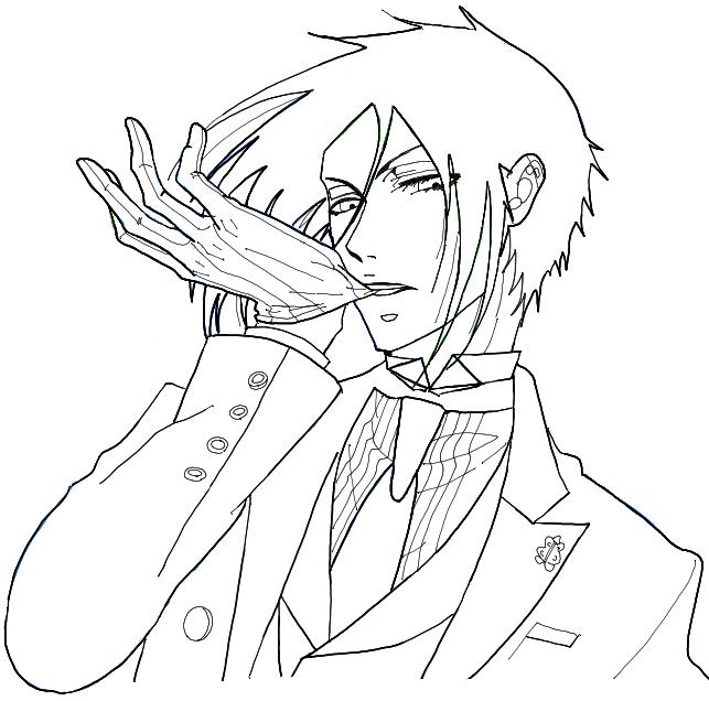 643x636 How To Draw Sebastian Michaelis From Black Butler An Anime Movie