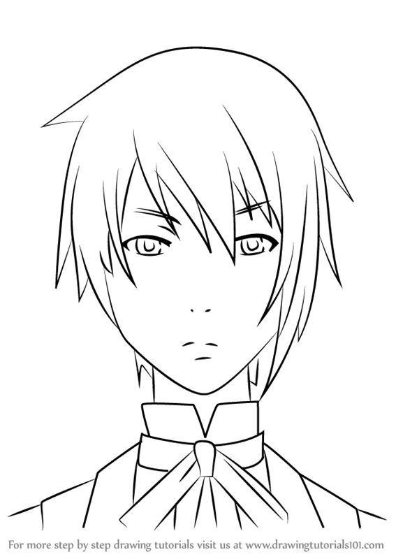 567x800 Learn How To Draw Canterbury From Black Butler (Black Butler) Step