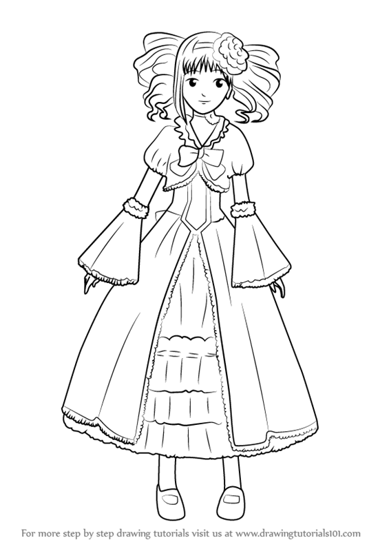 565x800 Learn How To Draw Elizabeth From Black Butler (Black Butler) Step