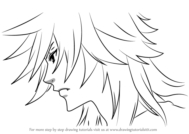 800x566 Learn How To Draw Pluto From Black Butler (Black Butler) Step By