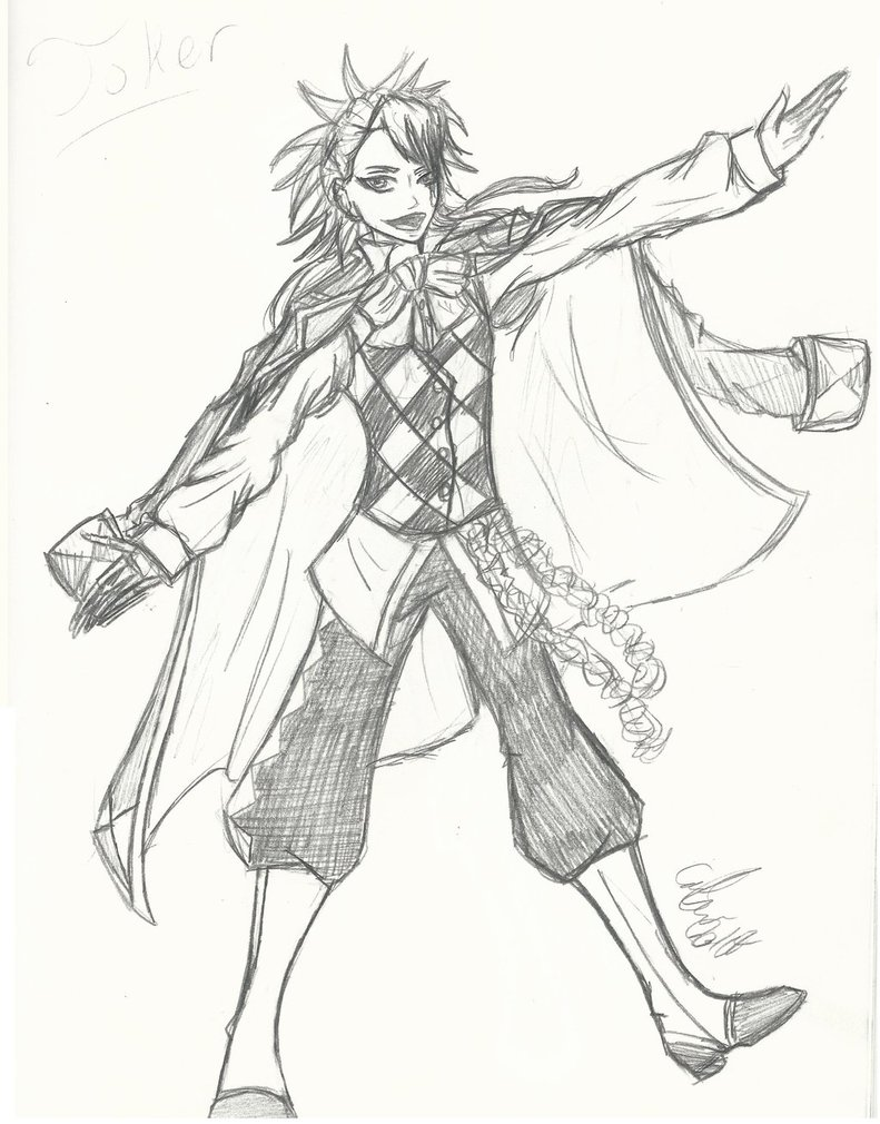 791x1010 Black Butler Book Of Circus Joker By Maygirl96