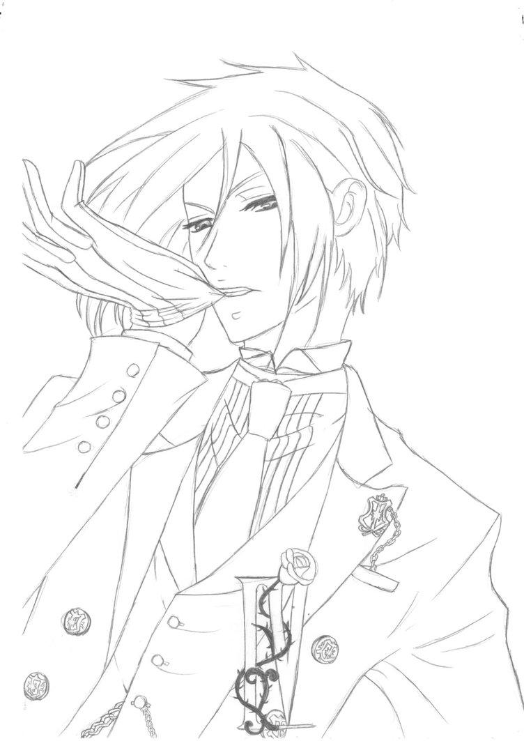752x1063 Black Butler Sebastian By Vocaloid13a