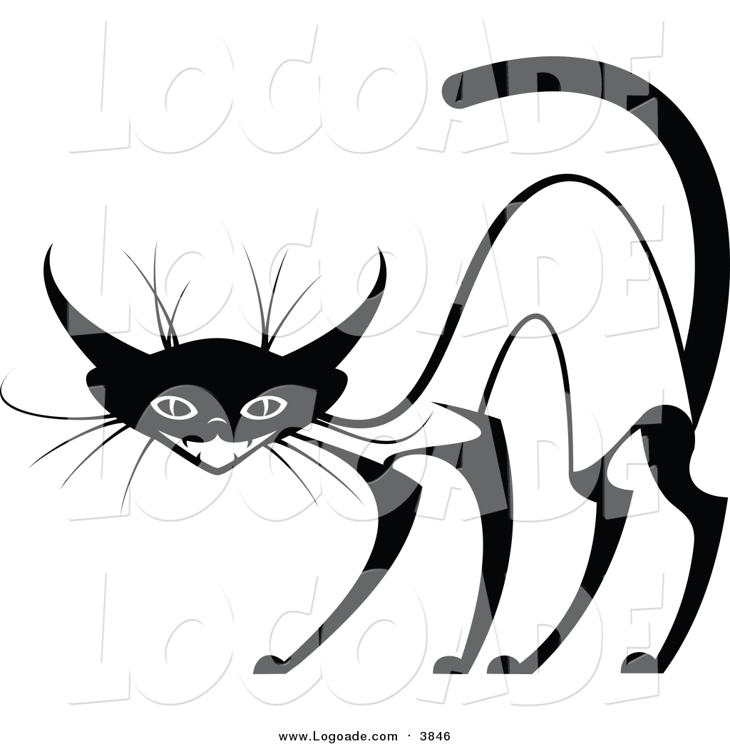 1024x1044 Clipart Of An Evil Siamese Cat By Vector Tradition Sm