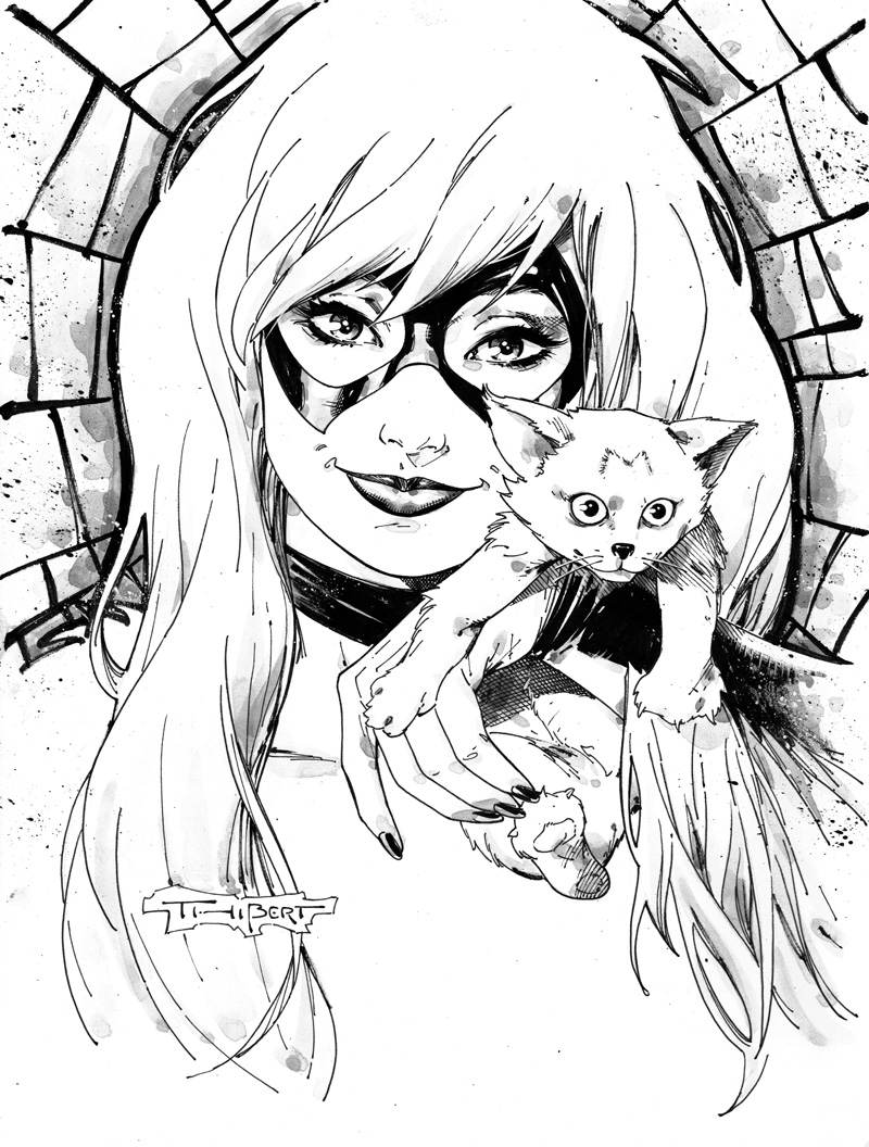 800x1056 Black Cat Con Style Sketch By