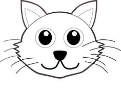 236x186 Cat Face Coloring Page Cat 1 Cartoon Black White Line Coloring