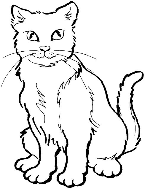 489x637 Black Cat Coloring Page