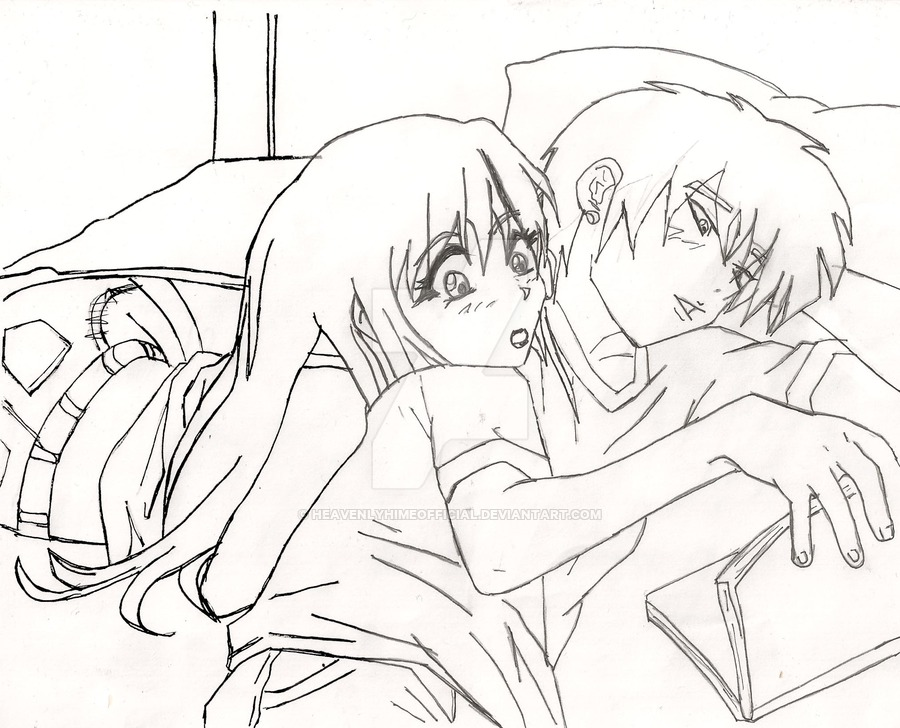 900x728 Anime Couple Pencil Drawing By Heavenlyhimeofficial