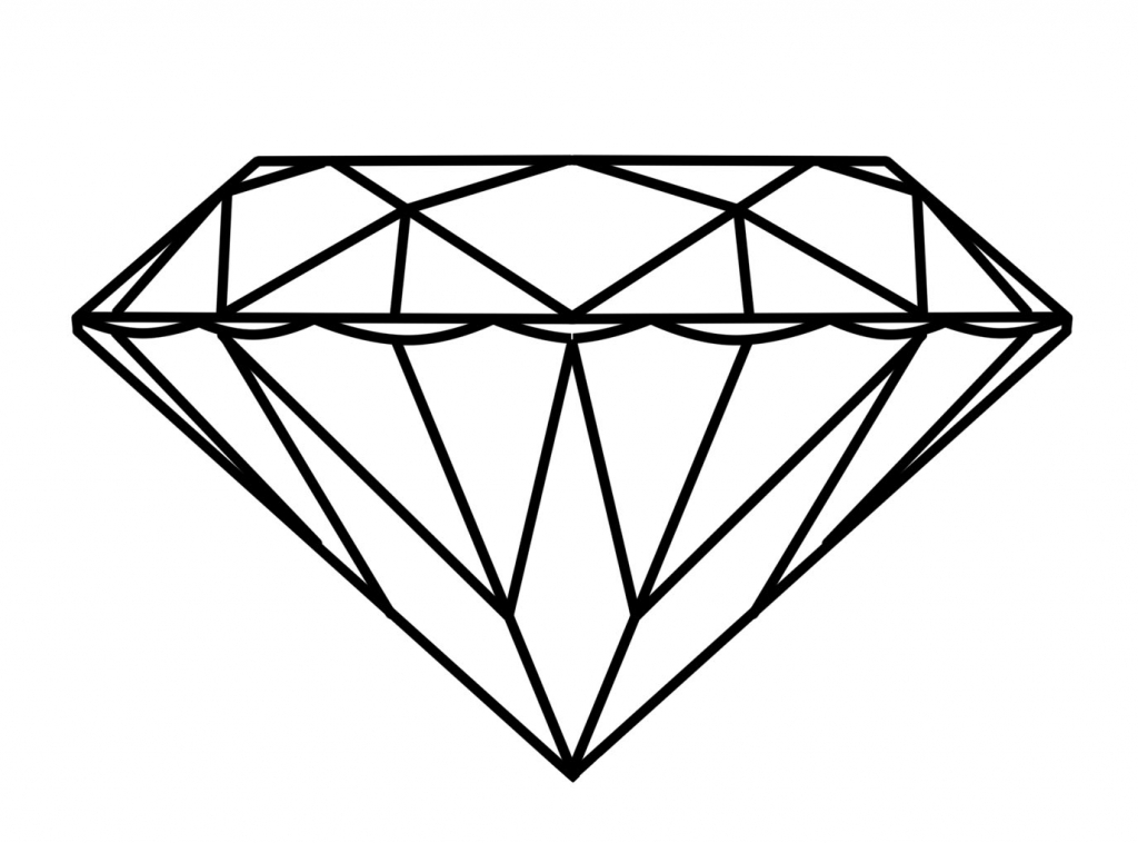 1024x758 3d diamond drawing diamond drawing