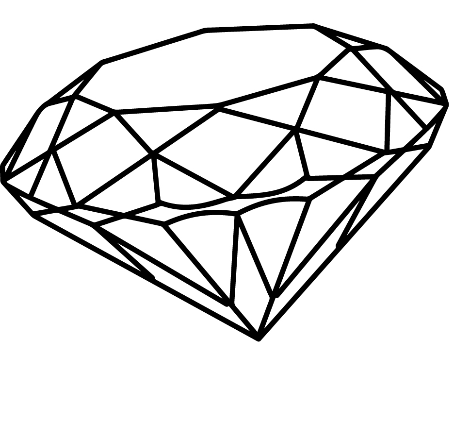 Line Drawing Diamond : Black diamond drawing at getdrawings free for