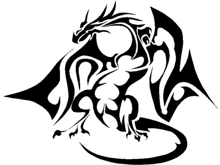 Black Dragon Drawing