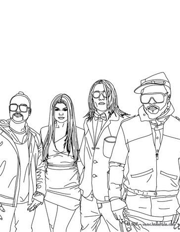 Black Eyed Peas Drawing