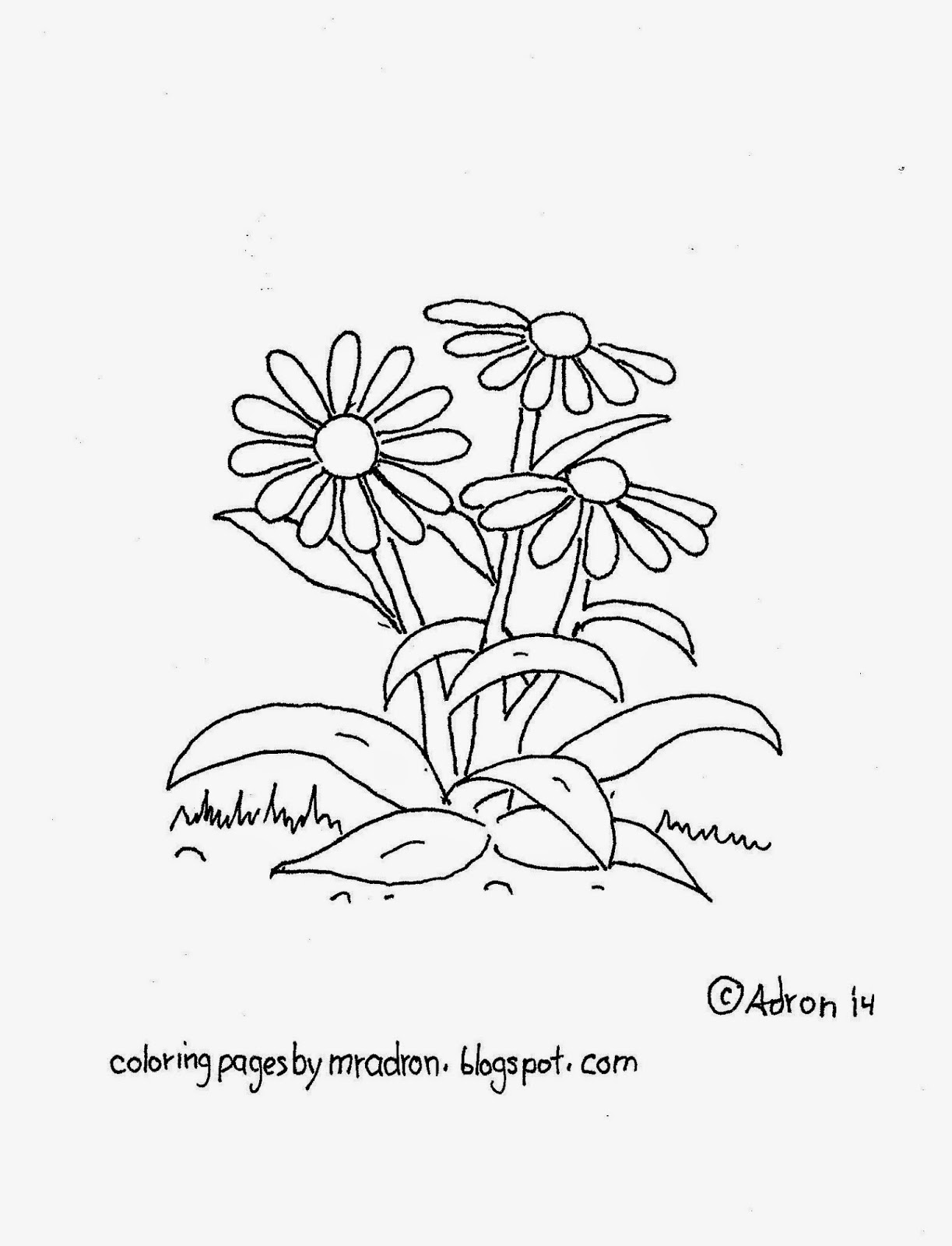 1223x1600 Coloring Pages For Kids By Mr. Adron Free Black Eyed Susan