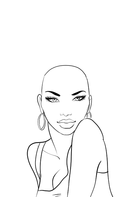450x650 How To Draw Afro Hair In Fashion Design Sketches Step By Step