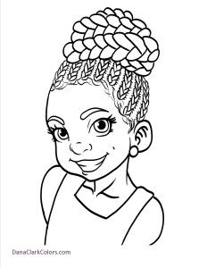 Black Girl Drawing