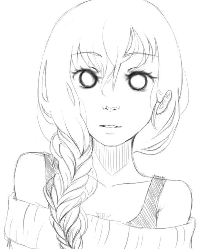 829x963 Anime Girl Drawings With Side Braids Anime Anime