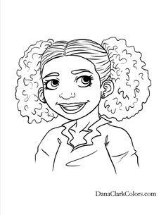 236x305 Cute Braids And Puffs Diverse Coloring Pages And Books