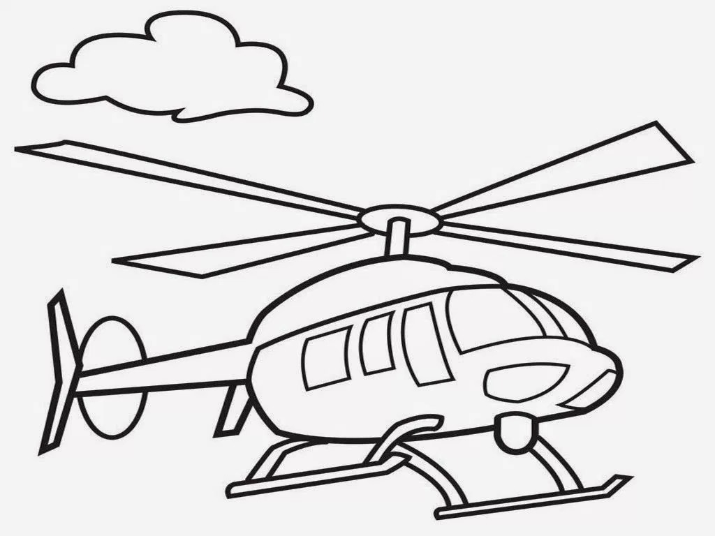 1024x768 Blackhawk Helicopter Coloring Pages Realistic In Inside Draw