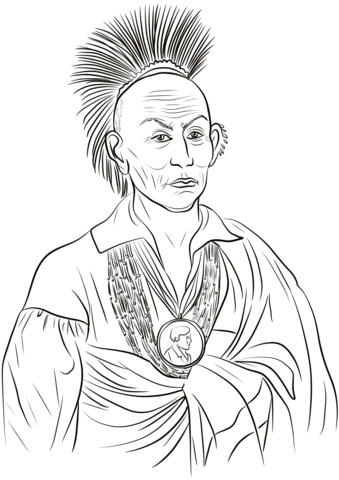 339x480 Black Hawk Chief Coloring Page Free Printable Coloring Pages