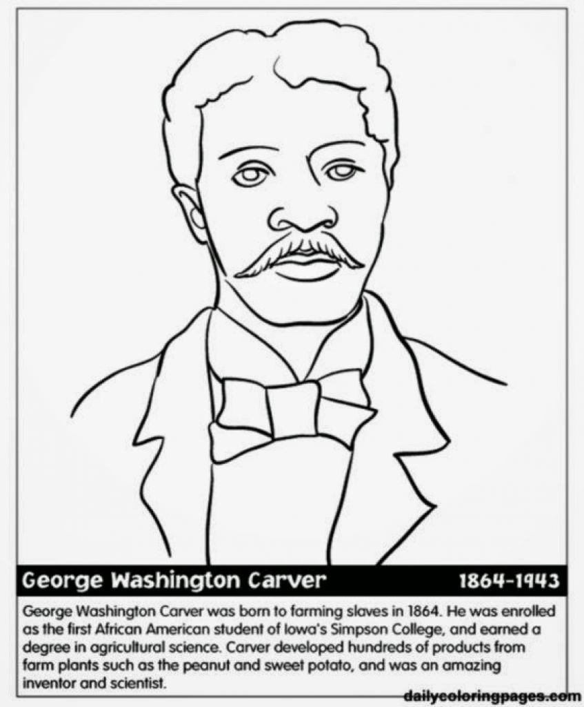 847x1024 Black History Month Coloring Pages