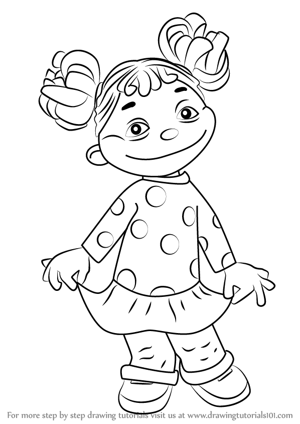 598x844 Learn How To Draw Gabriela From Sid Science Kid (Sid