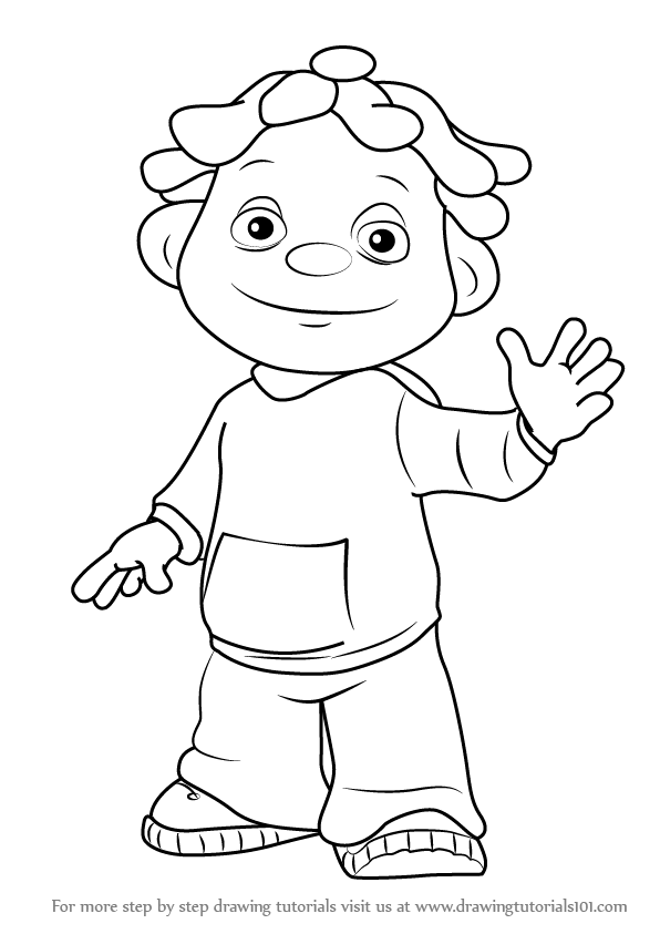 596x843 Learn How To Draw Sid From Sid The Science Kid (Sid The Science