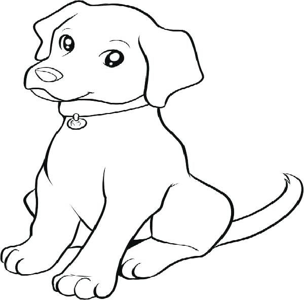 600x592 The Best Puppy Coloring Pages Ideas On Dog