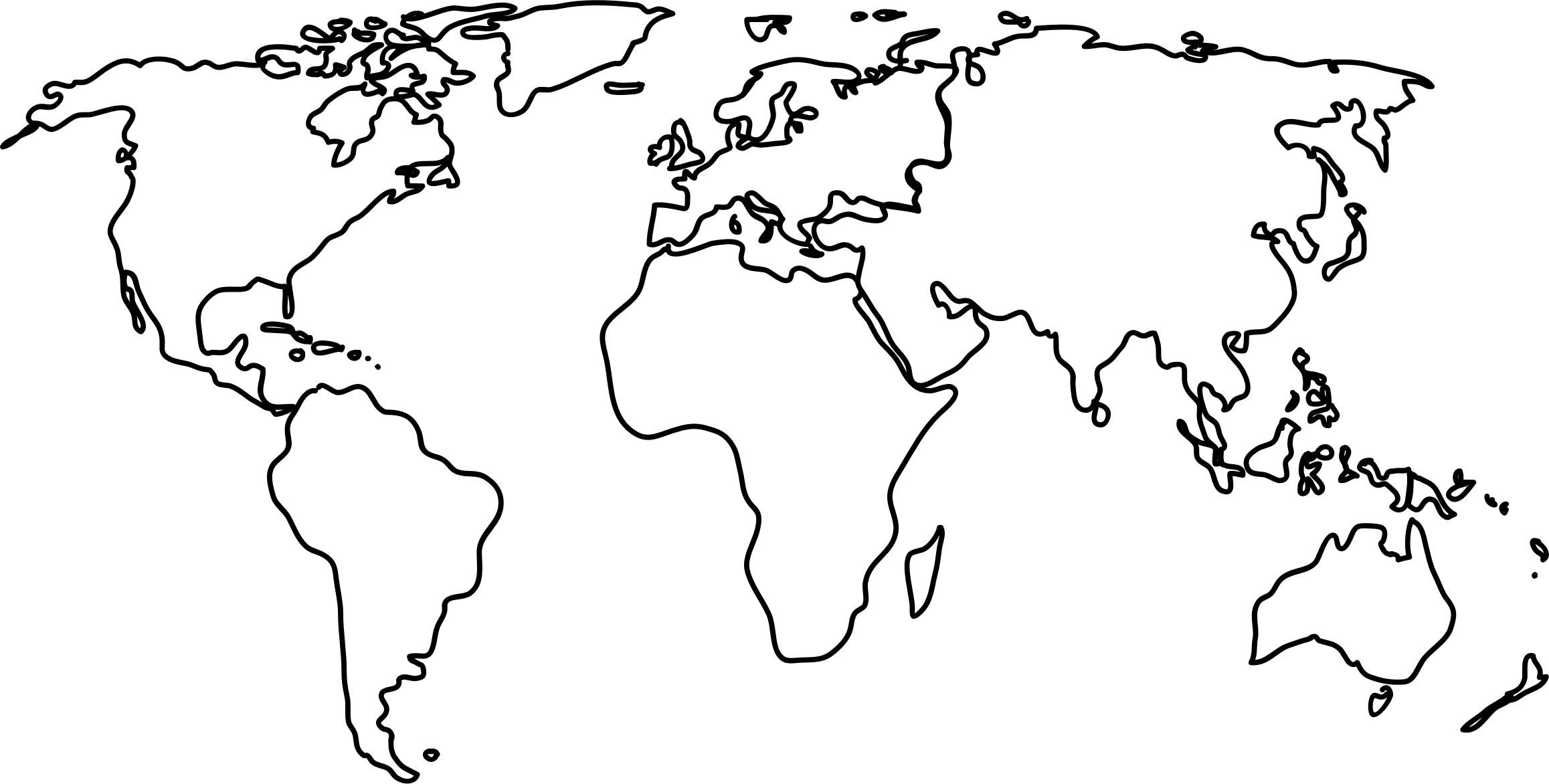 Black line drawing at getdrawings free for personal use black 2315x1172 map world black and white political world maps outline map at the gumiabroncs Gallery