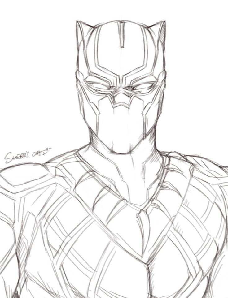 Black Panther Drawing At GetDrawings.com | Free For Personal Use Black Panther Drawing Of Your ...