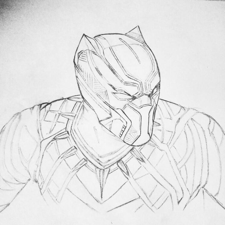 Black Panther Drawing At GetDrawings