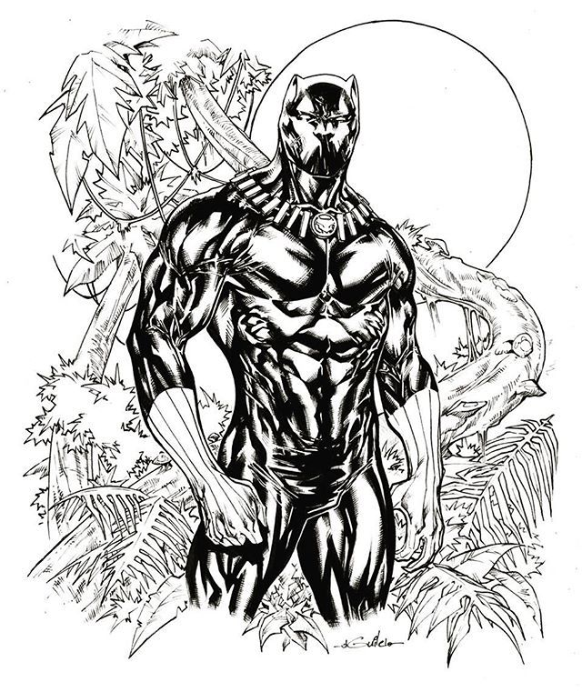 Black Panther Marvel Drawing