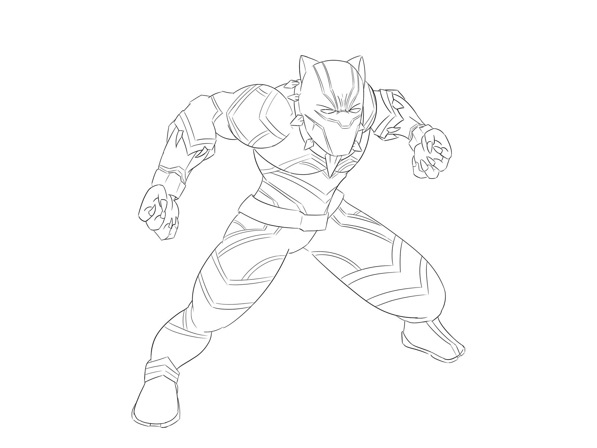 Black Panther Marvel Drawing At GetDrawings.com