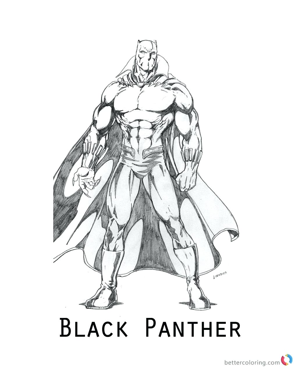 Black Panther Marvel Drawing at GetDrawings Free for