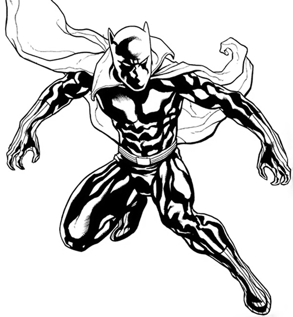 Coloriage De Black Panther.Black Panther Marvel Drawing At Getdrawings Com Free For