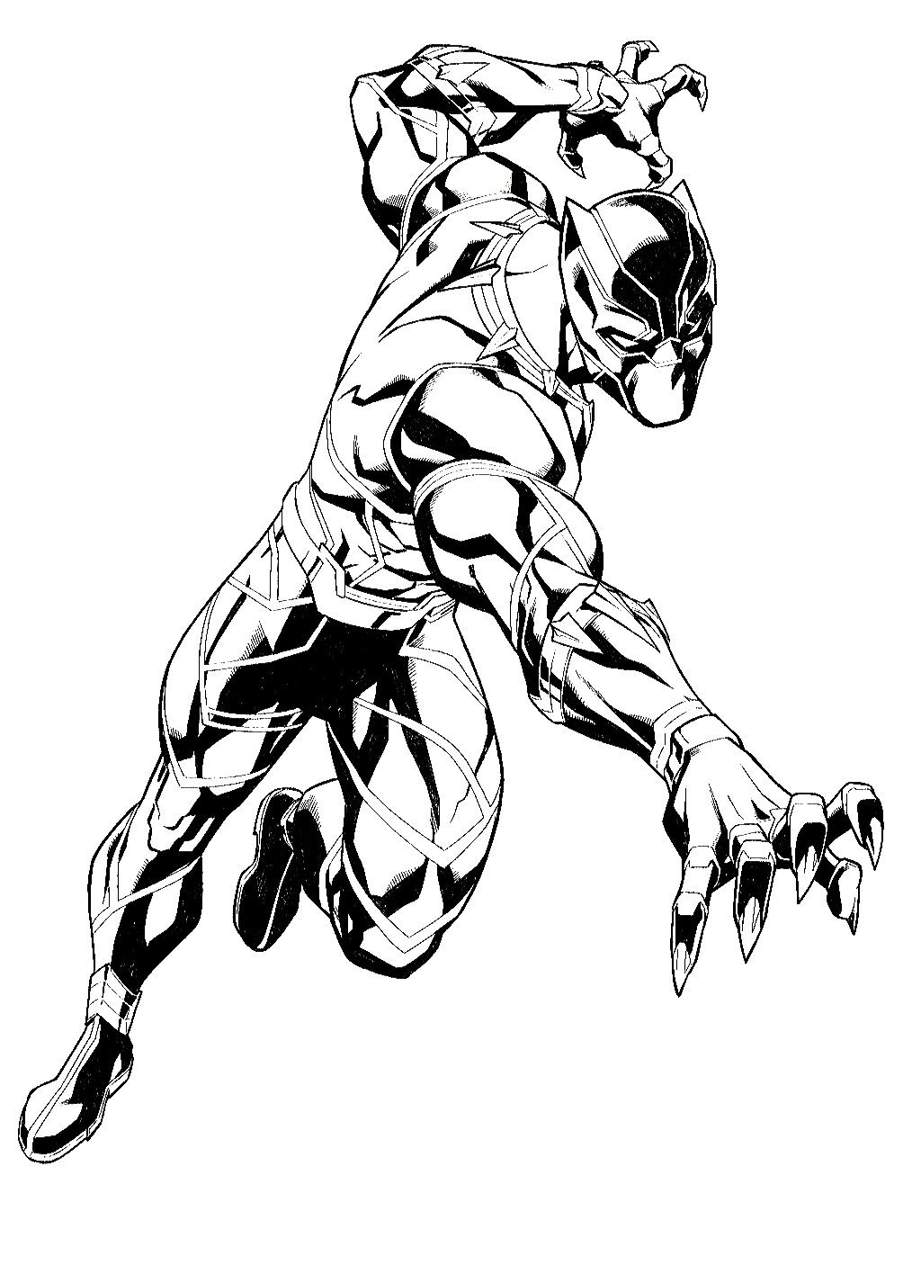 1024x1406 Black Panther (Black Amp White Art) Black Panther