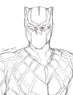 Black Panther Coloring Sheets