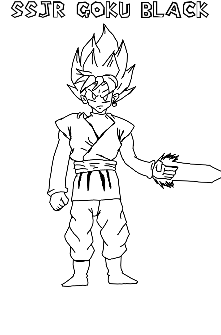 935x1413 Rought Sketch Goku Black Paper Mario Styled. By Risingflame12