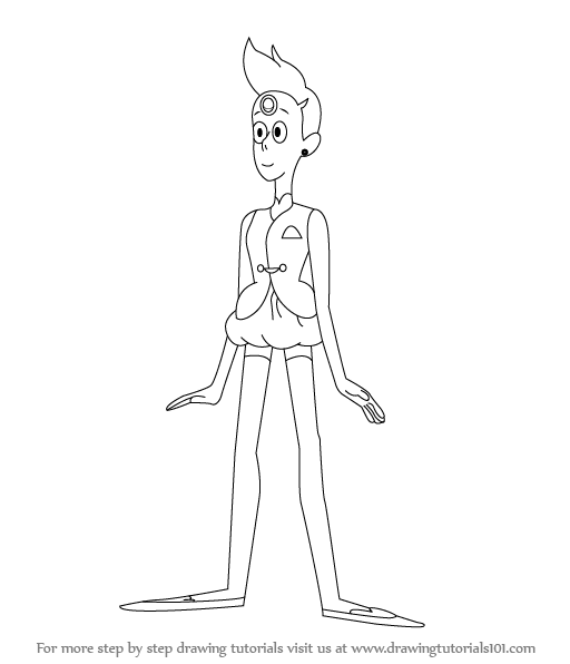 512x596 Learn How To Draw Pearl From Steven Universe (Steven Universe