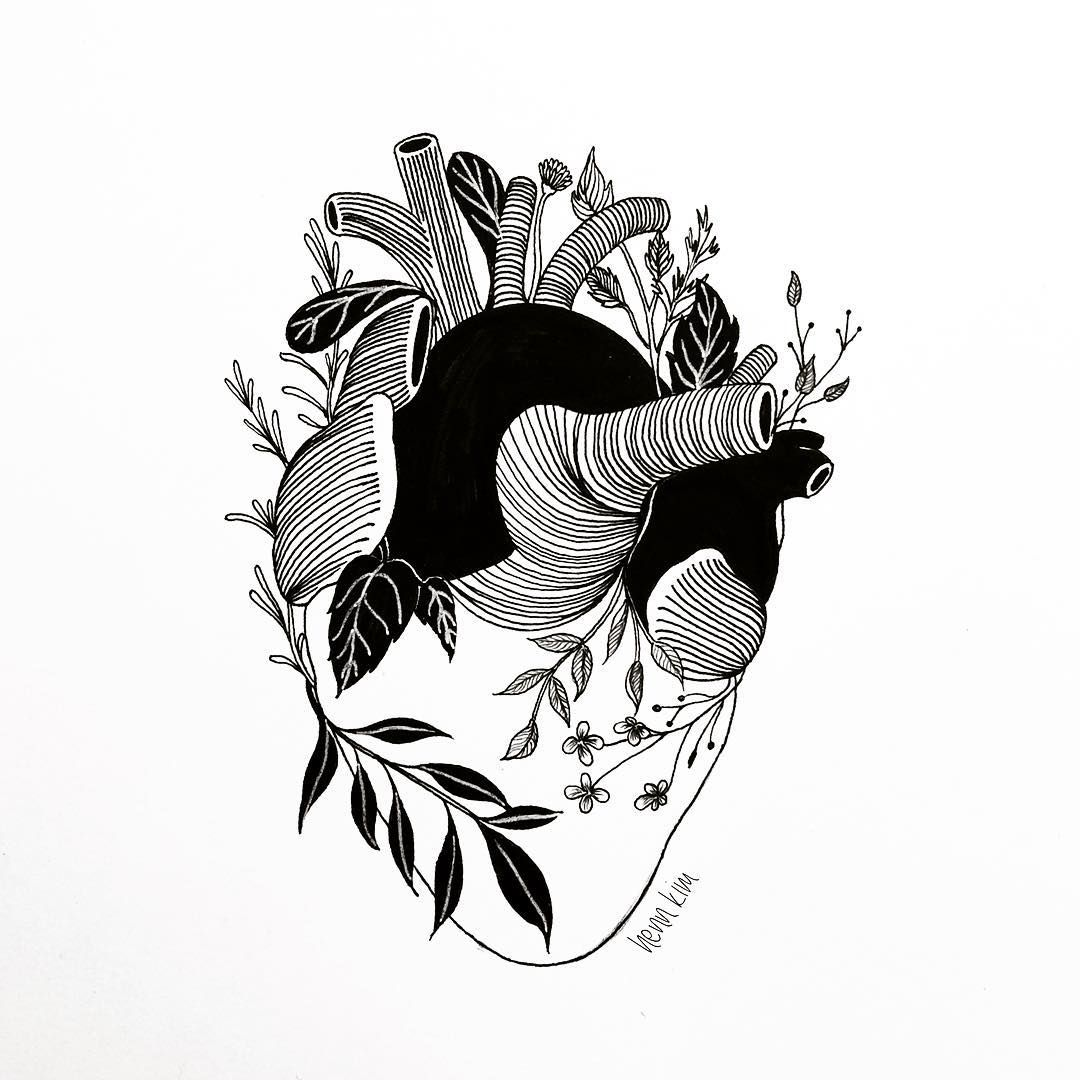 Black pen drawing at free for personal for Black and white tattoo artists