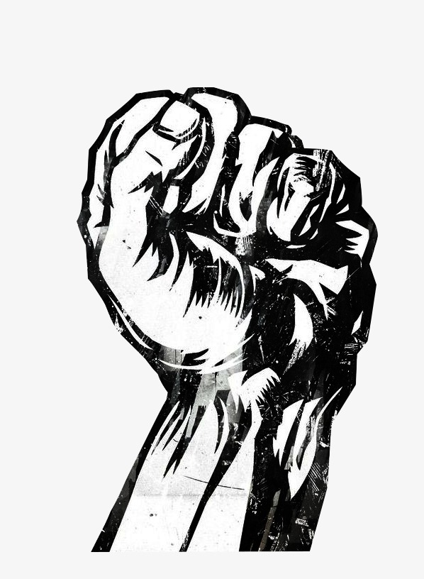 598x816 Fist Struggle, Struggle, Fist, Black And White Png Image For Free